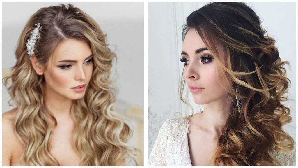Peinados para boda pelo rizado