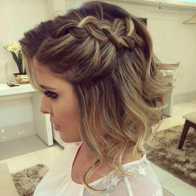 Peinados pelo corto para bodas madrina
